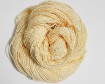 Lemon Chiffon, Hand Dyed Yarn, Sock Yarn, Merino, Nylon, Dye to Order,