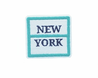 New York Iron On Applique Embroidered Patches Machine Embroidery Design for travel -lover