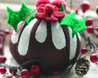 Christmas Pudding Tree Decoration Sewing Pattern Download (1017752)
