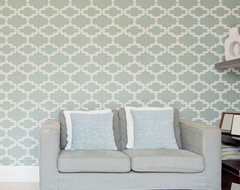 Kenitra Wall Painting Stencil - Allover Stencil for Painting
