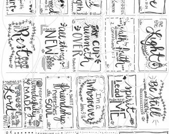 MINI Printable Scripture cards #1 - inspirational cards - scripture memory - encouragement scripture cards - digital download