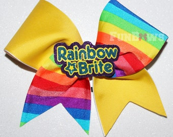 Totally amazing Rainbow Brite Cheerleading Allstar bow by FunBows !