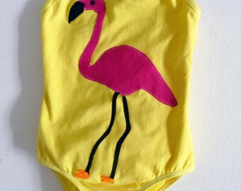 Rose flamant rose JUSTAUCORPS - Léotard - gymnastique - Zoo anniversaire-