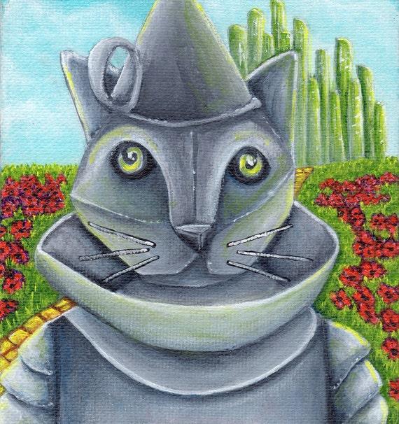Tin Man Cat 8x10 Fine Art Print