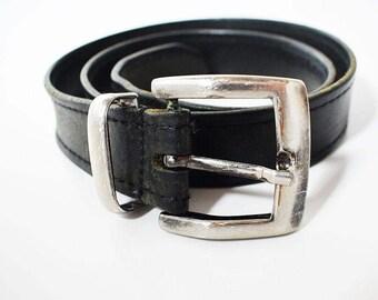 Vintage Leather Belt Black