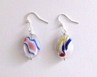 Helle Farbe-Swirl Ohrringe