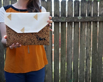 Eco Friendly Clutch | Clutch Bag | Cork Bag | Cork Clutch | Dog Purse | Envelope Clutch | Vegan Gift | Eco Friendly Bag | Cork Clutch Bag