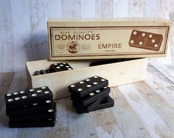 1950s St George Series Fine Quality Empire Dominoes - A Crystalate Product - Boxed and Complete - Made in England