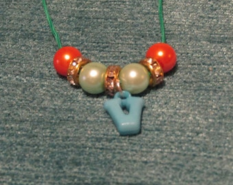 Children's  'V' Inital Necklace