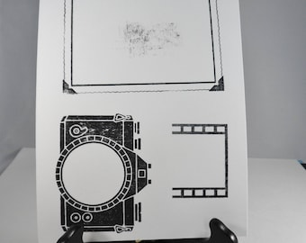 Camera, Photo, Film Negative Rubber Stamp from My Sentiments Exactly -- Camera Stamp -- Photo Stamp -- Film Negative Stamp