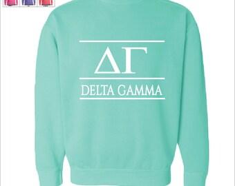 DG Delta Gamma Crest Sweatshirt Sorority Sweatshirt SZ3cpDP ... 51c45bb4d00