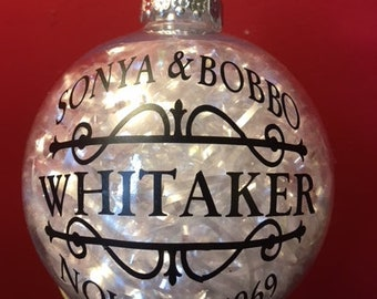 Best Christmas Ornament For Anyone to Have ,as a Wedding or Anniverary