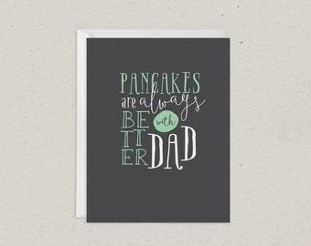 Clearance | Dad Card | Pancakes with Dad | Greeting Card | Fathers Day