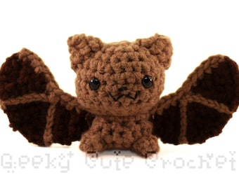 Big Brown Bat Amigurumi Crocheted Plush Toy