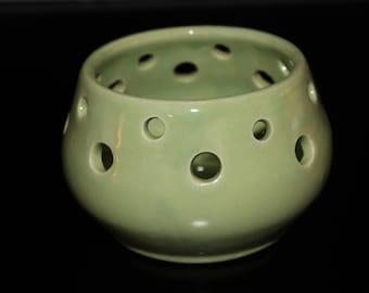 Pottery luminary, candle holder, candle lantern, pottery gift, candle centerpiece, tea light lantern,