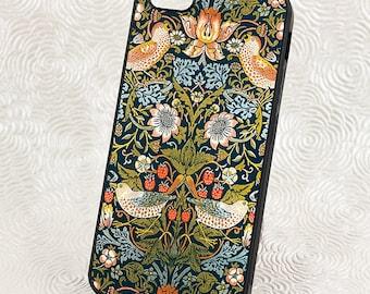 Colorful iPhone 5 Case, William Morris Strawberry Thief,  iPhone 6 Case, iPhone SE case,  iPhone Cover, iPhone 5C Accessory, Smartphone Case
