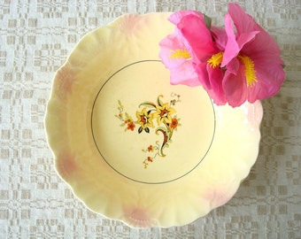 Vintage Yellow Ceramic Serving Bowl - Antique Yellow Ceramic Bowl - Yellow Vegetagle Bowl