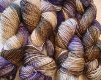 READY To SHIP, MCN Fing, Dk, and Worst*, Variegated. Hand Dyed, Color - Warm Blanket