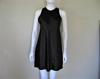 Black Satin 90s Dress