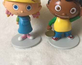 2 Little Einsteins Mini Figurines Cake Toppers Quincy and Annie