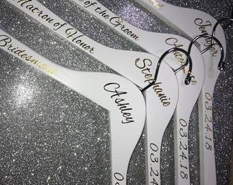 Bridesmaid hanger / Wedding Hanger / custom bridesmaid hanger/ custom wedding hanger/ bridesmaid gift/ wooden hanger / wedding dress