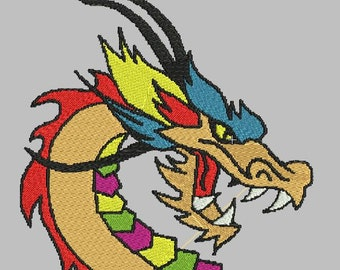 DRAGON EMBROIDERY FILE  in 3 sizes