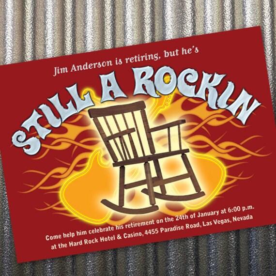 retirement party invitations, retirement party ideas, still rockin retirement party, still rockin party, electric guitar invitation