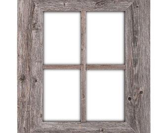 Rustic Wood Window Frame, Window Frame, Window Pane Frame, Barnwood Window Frame, 100% Reclaimed Wood
