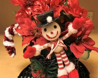 Snowman Cute Christmas Table Topper Centerpiece