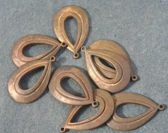 4 Brass vintage findings