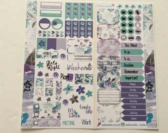 Winter Blooms Personal Planner Sticker Kit: