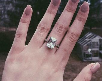 Swarovski Element Sterling Silver Ring