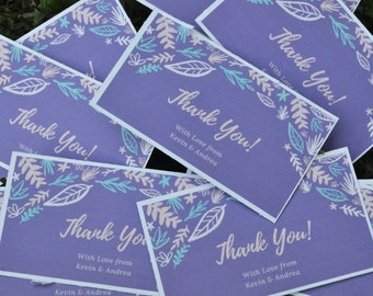 THANK YOU personalized cards/thank you cards/personalized/wedding card/birthday cards