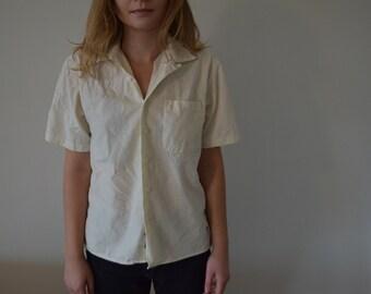 cream linen button up shirt