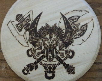 Woodburning - Tribal-like Diablo Barbarian Banner