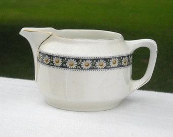 Antique KPM Porcelain  Creamer with daisy pattern trim