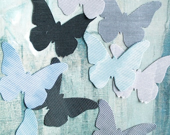 7 butterflies embellishments for crafting, scrapbooking, textile arts, 1028 Lelièvre France upholstery fabric