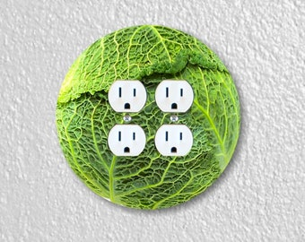 Cabbage Round Double Duplex Outlet Plate Cover
