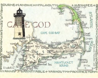 Cape Cod Map - Two Sizes