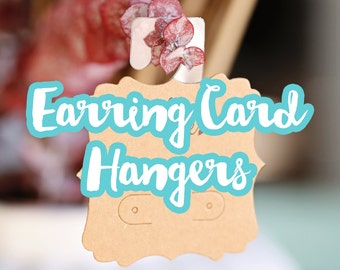 Earring Card Hangers, Hanging Card Adapters, Jewelry Display Hanger, Peg Hole Tab, Peel and Stick Self Adhesive Plastic Hook