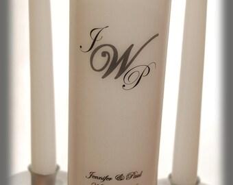Personalized Monogram Unity Candle SET, wedding candles, weddings, wedding decorations