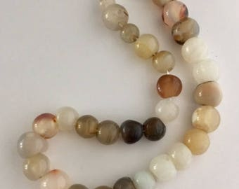 Agate Beads - 33 beads - assorted sizes