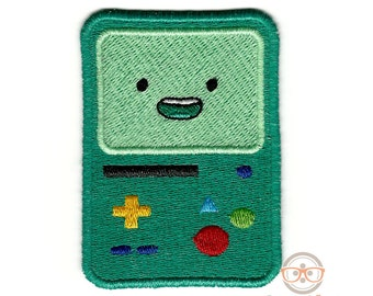 Adventure Time Patch - BMO - Embroidered Geeky Iron on Patch