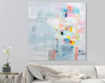 Abstrakte Malerei, große Leinwand Kunst, original Gemälde auf Leinwand, abstrakte Kunst, zeitgenössische Kunst, moderne Malerei, Geschenk für sie. DUEALBERI