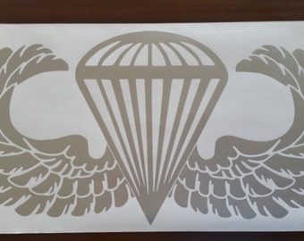 Airborne Decal/paratrooper/Jump Wing Decal/Parachutist Badge Decal