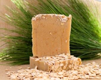 Organic Handmade Oatmeal Soap, Non Vegan, Goats Milk, Honey Oatmeal Soap, Natural Soap, Moisturizing, Handmade Soap, Cold Process,Bath Soap