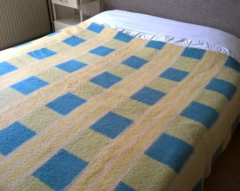 """Dutch vintage wool blanket Aabe made in Holland 70,1""""/ 90,6"""" inch"""