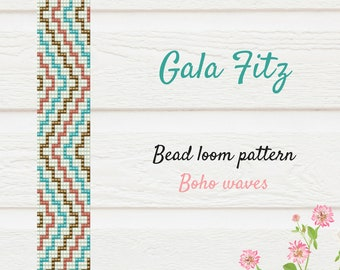 Bead loom pattern, Modern bracelet pattern, Light stylish loom cuff pattern Geometric colores stairs, Bead stitch loom pattern, Bead weaving