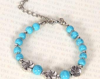 Tibetan silver blue bracelets
