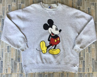 Mickey Mouse Logo Graphic Vintage Sweatshirt